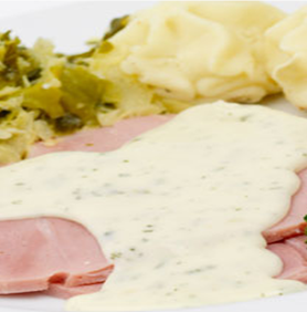 Prestige Foods - gammon / cabbage ready meal