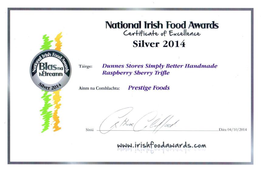 The Irish Food Awards – Blas na hEireann 2014